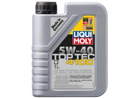 НС-синтетическое моторное масло LIQUI MOLY - Top Tec 4100 5W-40 1 Л. 7500
